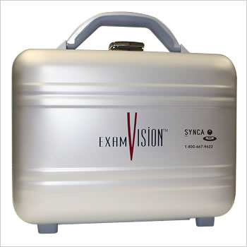 ExamVision metal case for loupes and light