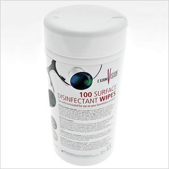 ExamVision desinfectant wipes (tub of 100)