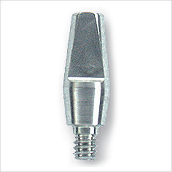 One piece screw-in abutment