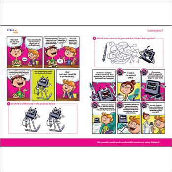 Calaject cartoon activity books