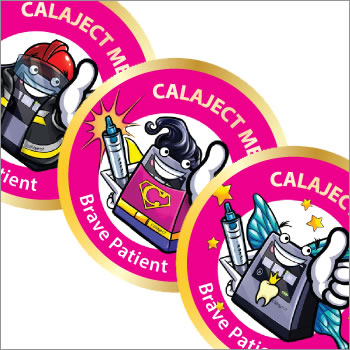 Calaject hero medal stickers