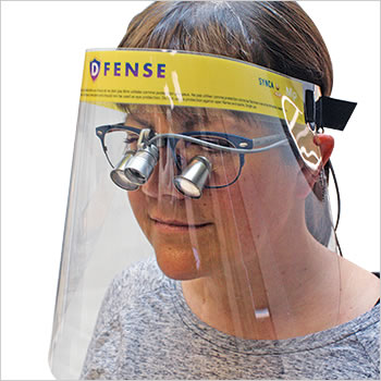 DFENSE visors 5-pack (quantity prices)