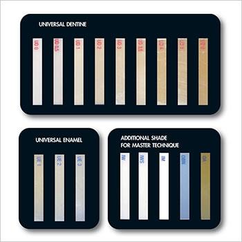 ENA HRi 15 shade guide (Enamel, Dentin, Modifier)